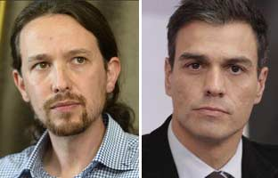Pablo Iglesias y Sánchez <br>ya hablan por 'Whatsapp'