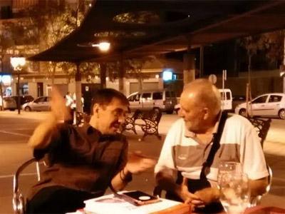 Juan Carlos Monedero y Julio Anguita, este sábado.