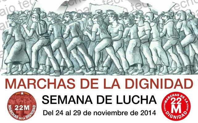 Cartel de la 'semana de lucha' de las Marchas de la Dignidad
