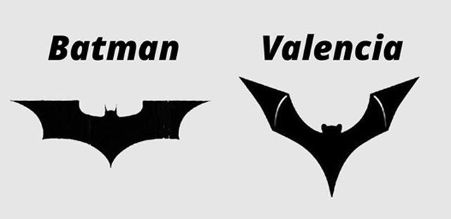 El murciélago de Batman y la variante que el valencia quiere registrar.