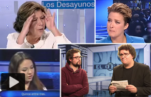 María Casado llora en 'Los Desayunos' tras 'abroncar'<br> a Curri Valenzuela