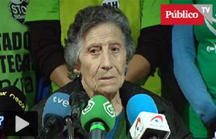 La PAH pide una vivienda social para la anciana desahuciada en Vallecas