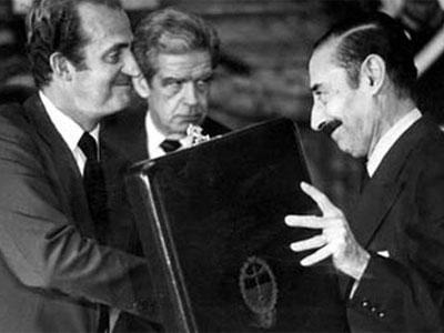 El dictador argentino Videla y el rey Juan Carlos