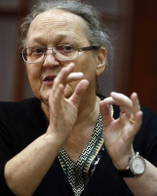 Anna Ferrer, presidenta de la Fundación Vicente Ferrer. EFE