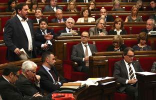 Mas y Junqueras se emplazan a dialogar<br> para sumar en pro<br> de la independencia