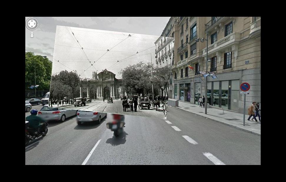 Imágenes de la Guerra Civil con las panorámicas de GoogleStreet View. CALLE ALCALÁ