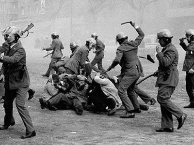 Represión policial en Barcelona durante la dictadura franquista.