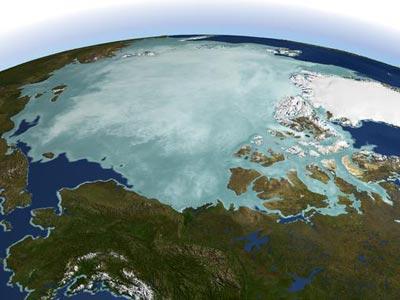 Imagen del Polo Norte de la NASA