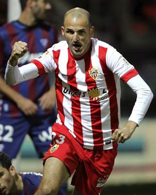 Soriano celebra su reciente gol al Eibar.