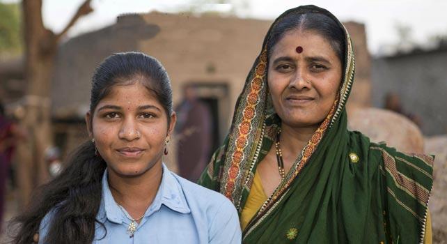 Dos mujeres devadasi del estado de Karnataka, India