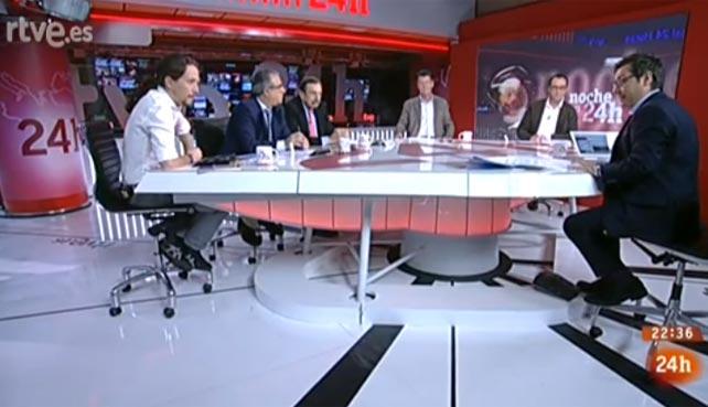Programa de 'La noche en 24 horas' de este viernes, con Pablo Iglesias.
