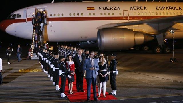 Rajoy, en el aeropuerto de Veracruz (México), donde participará en la Cumbre Iberoamericana. EFE/J.Martin