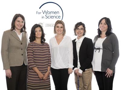 Leticia Tarruell, Ana Belén Hungría, Rocío Ponce, Eva María Pellicer y Elisa Antolín, de izquierda a derecha.