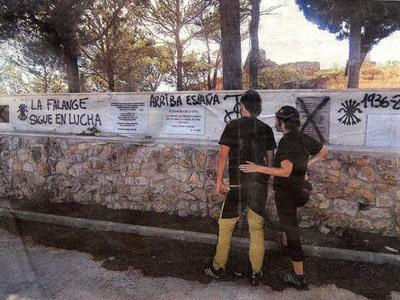 Pintadas fascistas que aparecieron en 2007
