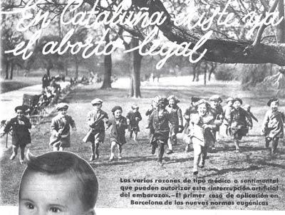 Imagen de una revista en la que se informaba de que el aborto era legal en Catalunya.