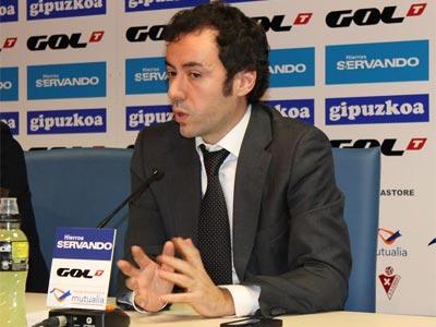 El presidente del Eibar, Álex Aranzábal.