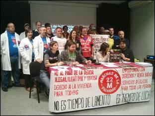 Las 'Marchas de la Dignidad 22M' se dirigen a Madrid para quedarse