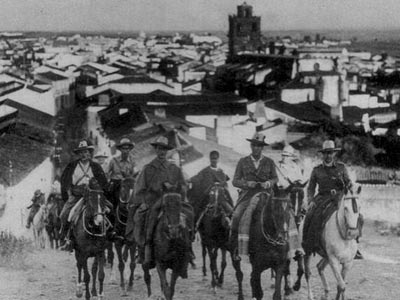 Imagen de la Guerra Civil tomada en Azuaga (Badajoz).