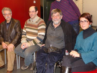 Horacio Tamburini, Ruben Benedito, Carlos Slepoy y Monserrat Armengou. PÚBLICO