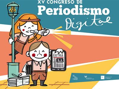 Cartel del Congreso de Periodismo Digital de Huesca.