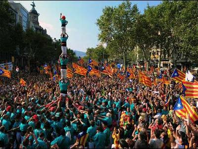 Celebración de la Diada en 2012.