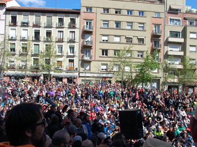 Imagen de una de las partes de la Asamblea celebrada en la Plaza Reina Sofía