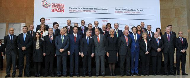 Foto de familia del Foro Global España 2014.