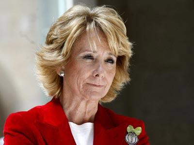 La presidenta del PP de Madrid Esperanza Aguirre.