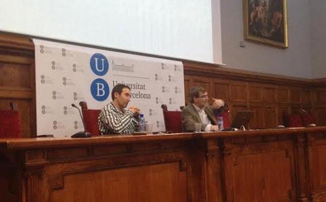 Los conferenciantes durante el evento.