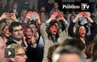 Gritos a favor del aborto interrumpen a Rajoy en su discurso de clausura del Congreso del PPV