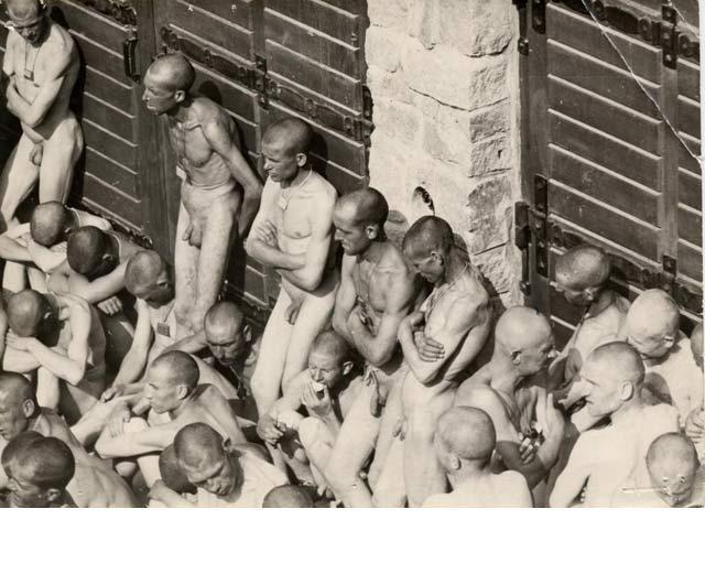 Prisioneros de los campos de concentración de Mauthausen, en Austria, donde murieron 4.300 españoles. CRÉDITO: Archivos del Equipo Nizkor, obtenida del National Archives and Records Administration (Washington).