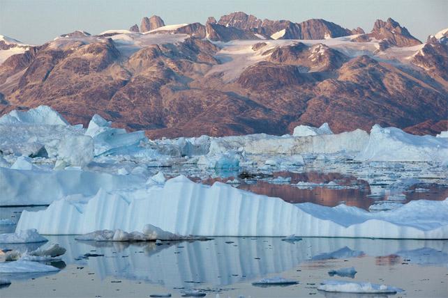 Glaciar Helheim en el Fiordo Sermilik en Groenlandia. EFE