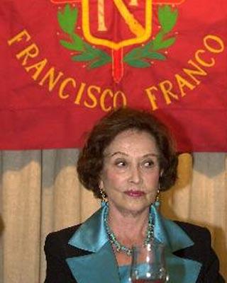Imagen de archivo de la hija del dictador Francisco Franco, duquesa de Franco.