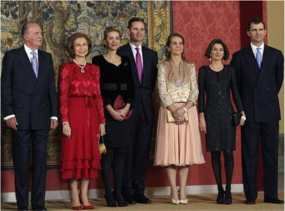 Imagen de archivo de la familia real.