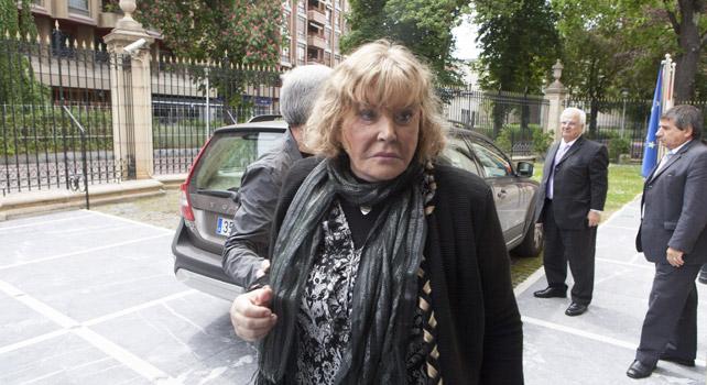 La jueza argentina María Servini a su llegada a la sede del Parlamento Vasco en Vitoria.