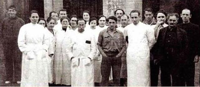 Personal del Hospital de Valdediós. Enero de 1937.