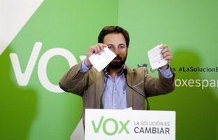 Santiago Abascal, nuevo presidente de Vox con <br>el 91% de los votos