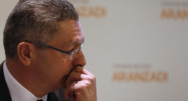 El ministro de Justicia, Alberto Ruiz Gallardón, durante su intervención en las jornadas sobre el nuevo Código Mercantil.