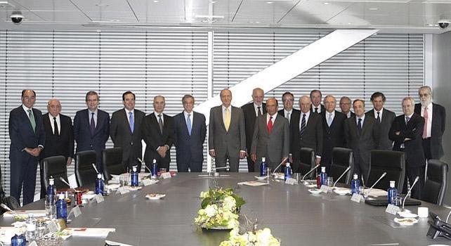 El rey Juan Carlos con el Consejo Empresarial para la Competitividad.