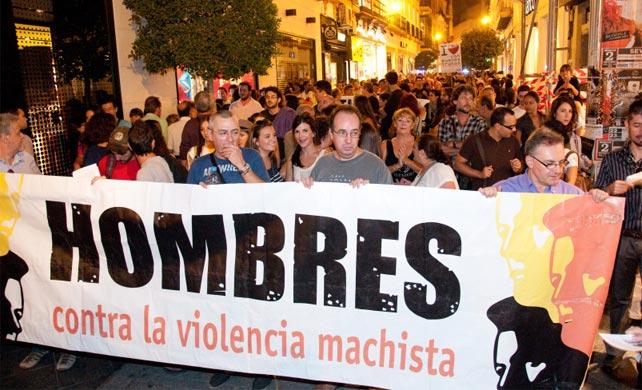 Manifestación de Hombres por la Igualdad en Sevilla.