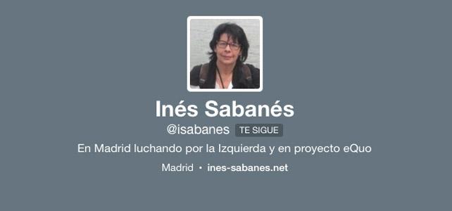 Perfil de Twitter de Inés Sabanés