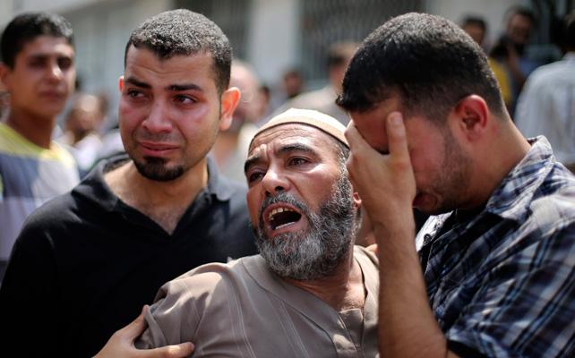 El padre de un fallecido en Gaza por los ataques de Israel.
