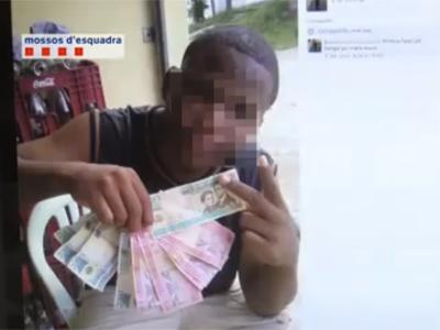 Imagen del perfil de Facebook del falso secuestrador y pareja de la detenida.