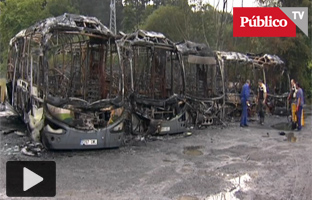 Queman cinco autobuses por la excarcelación de los presos de ETA enfermos