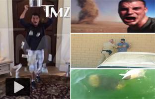 Charlie Sheen cambia el agua helada por 10.000 dólares y otros vídeos