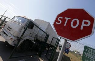 El convoy ruso ya está de vuelta de Ucrania