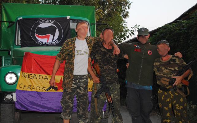 Olmo y otros milicianos de la 'Brigada Carlos Palomino'.