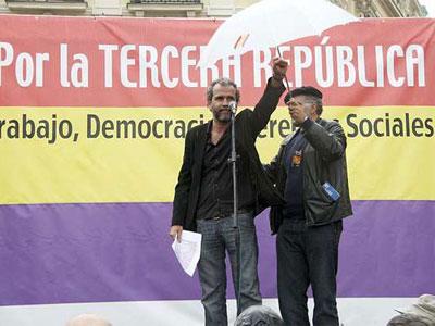 Guillermo Toledo, en un acto en conmemoración del 79 aniversario de la proclamación de la República.