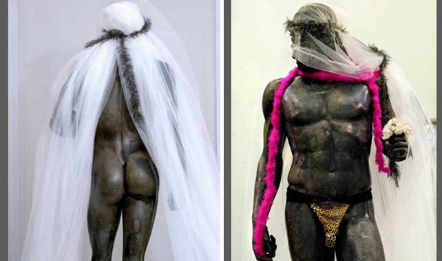 Las imágenes fueron tomadas en el Museo Arqueológico Nacional de Reggio Calabria. DAGOSPIA.IT