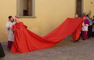 La capa magna del arzobispo Cañizares causa furor en las redes sociales